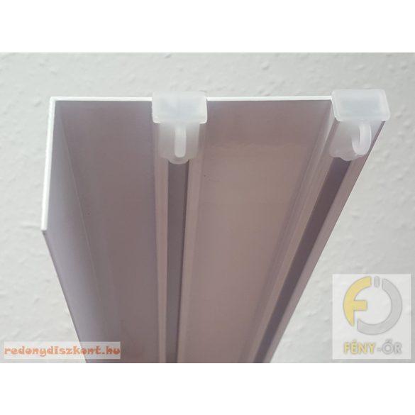 4. Madeira 2 soros egyenes előlapos alumínium függönysín, fehér színben