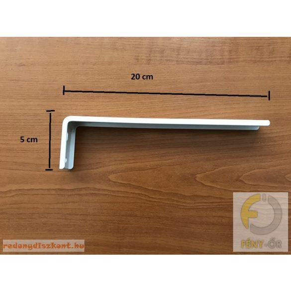 Oldalfali tartókonzol 200 mm - fehér