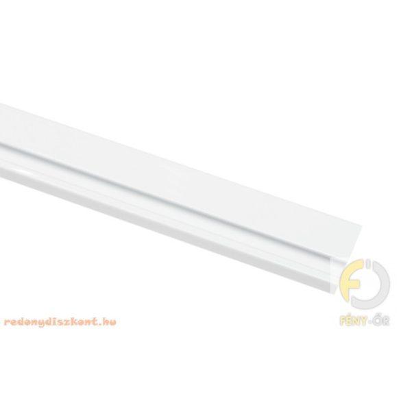 1. Slim line egysoros alumínium függönysín - fehér