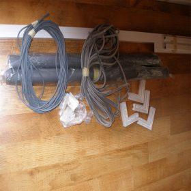 Szúnyogháló ajtó szett (szétszerelt állapotban)