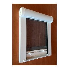 Mérési segédlet - műanyag keretes rolós szúnyoghálóhoz függőleges ablakra