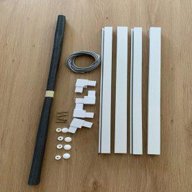 Műanyag keretes szúnyogháló szett (17*30 mm)