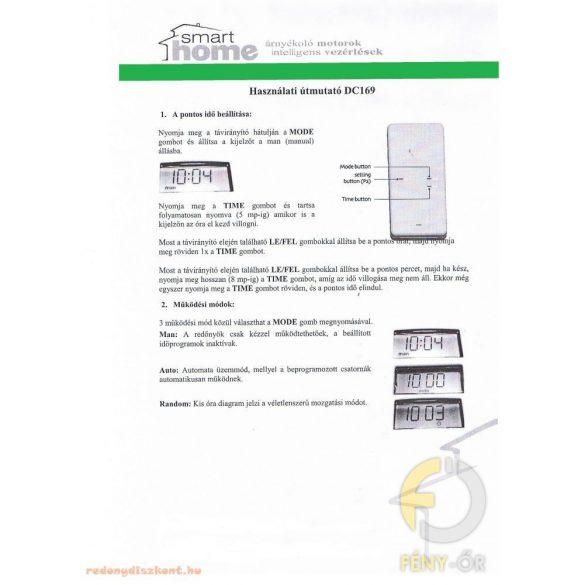 2. DC920 Smarthome távirányító 5 csatornás, időprogrammal