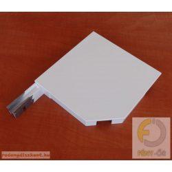 4. Redőnytok végprofil (alu) 205 mm  fehér