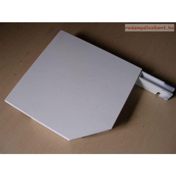 4. Redőnytok végprofil (alu) 137mm  fehér