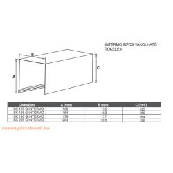 1. TOKLEMEZ 205 mm-es (90 fokos vakolható alumínium redőnyhöz) - (toklemez, szerelő fedél, vakoló él, távtartó)
