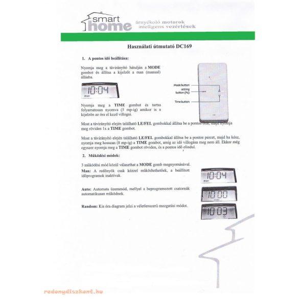 2. DC458 Smarthome távirányító 1 csatornás, időprogrammal