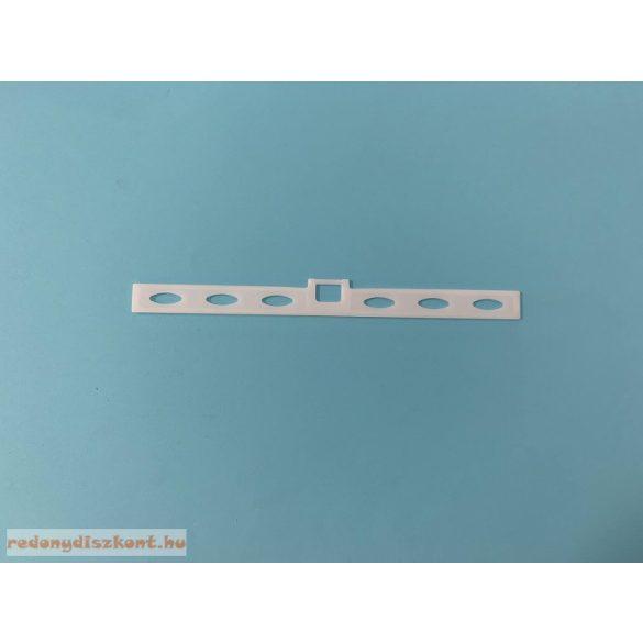 1. Szalagfüggöny lamella tartó vállfa (alacsony akasztóval)