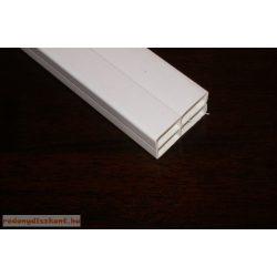 8. Műanyag kiemelő profil ( 25*45 ) - fehér