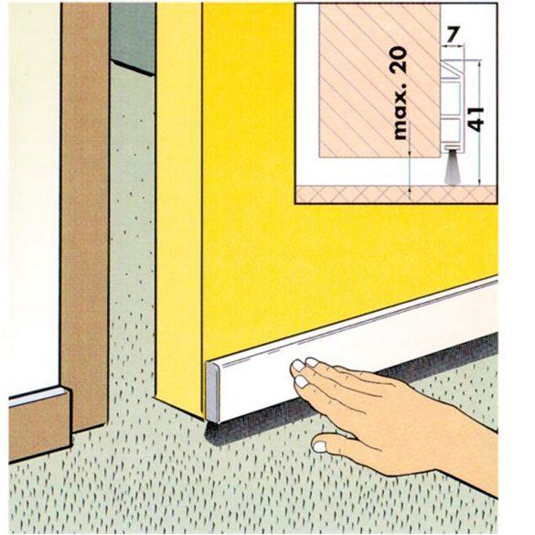 7. Kefés ajtószigetelő - barna