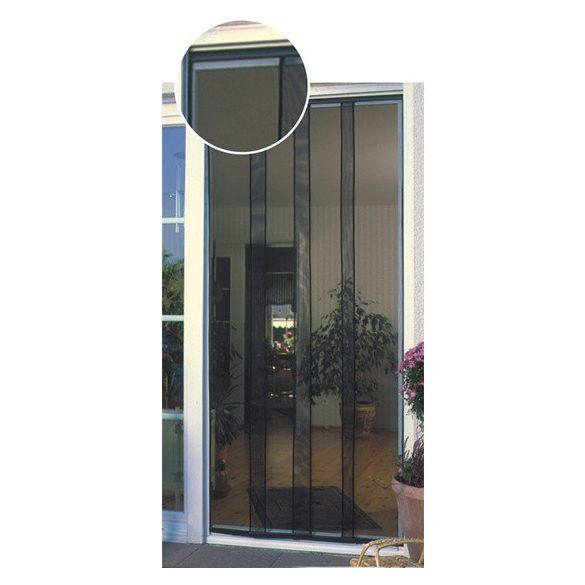 Rovarvédő függöny üvegszálas, 4 részes, sínes, 95*215 cm, fekete