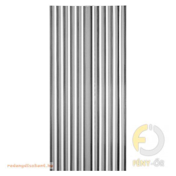 Retro térelválasztó függöny, 90*200 cm, Szürke-fehér színű,