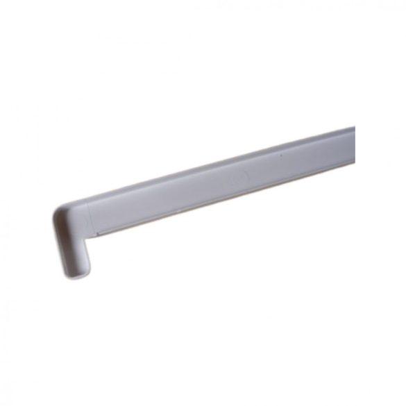 7. Műanyag végzáró profil 600mm (beltéri 2 cm kamrás párkányhoz)