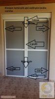1. Szúnyogháló ajtó szett - egyedi méretre gyártott (KÉTSZÁRNYÚ, KETTÉNYÍLÓ SZÚNYOGHÁLÓ AJTÓ!!!)