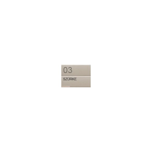 Redőnyléc   (mini, alumínium) 39mm- szürke