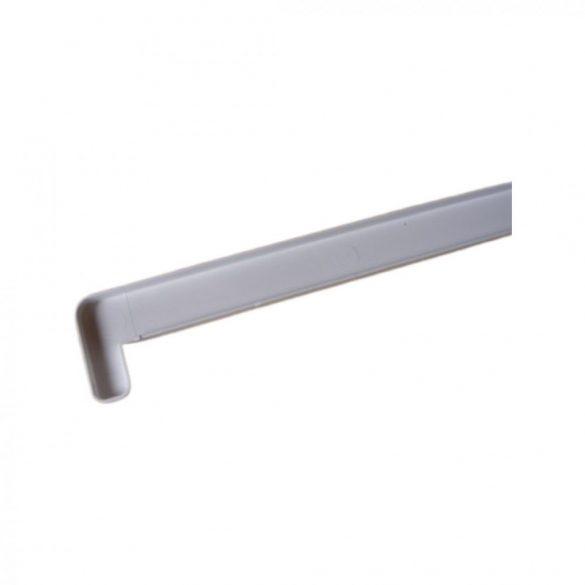 1. Műanyag végzáró profil 620 mm - 2 cm kamrás műanyag párkányhoz