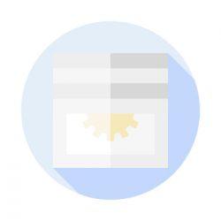 Redőny gurtni bevezető (mini műanyag, kefés)- barna
