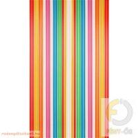 Retro térelválasztó függöny, 90*200 cm, többszínű,