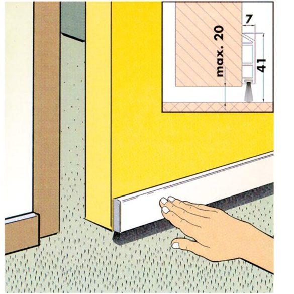7. Kefés ajtószigetelő - fehér