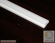 Harmonikaajtó pántprofil (fehér, barna)
