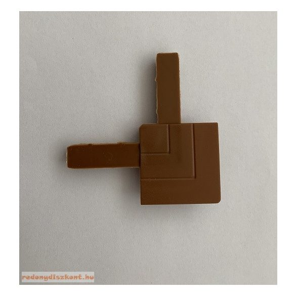 9. Szúnyogháló sarok elem (peremes aluhoz)-aranytölgy