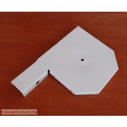 5. Redőnytok végprofil 160 mm-es hagyományos tokhoz,  fehér