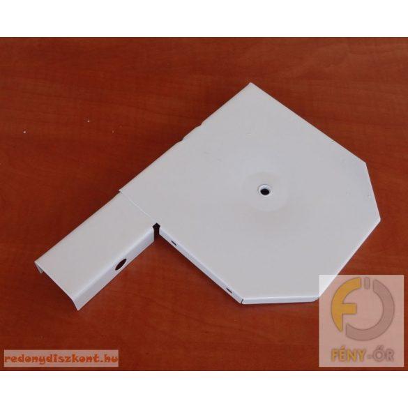 5. Redőnytok végprofil 180 mm-es hagyományos tokhoz,  fehér