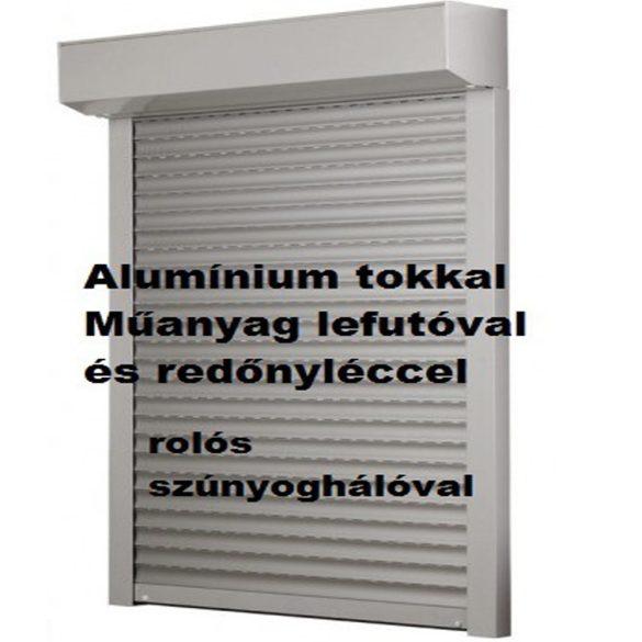 4. REDEX ALU KOMBI műanyag redőny - rolós szúnyoghálóval egybeépítve (alumínium tokkal, műanyag lefutóval)