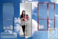 5. Szúnyogháló ajtó (zsanéros, nyíló) - egyedi méretre gyártott (összeszerelt)