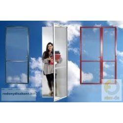 4. Szúnyogháló ajtó (zsanéros, nyíló) - egyedi méretre gyártott (összeszerelt)