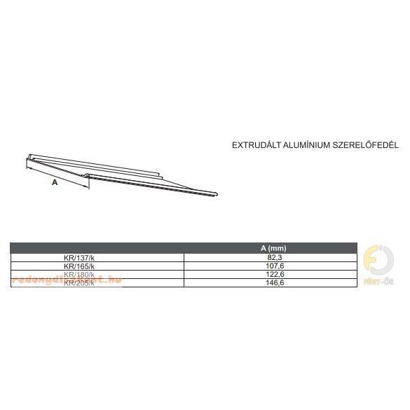 1. TOKLEMEZ 137 mm-es (90 fokos vakolható alumínium redőnyhöz) - (toklemez, szerelő fedél, vakoló él, távtartó)