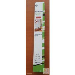 Rovarháló fehér összetekerhető, flexibilis műanyag kerettel, szürke hálóval, mágneses, 130*150 cm ablakra