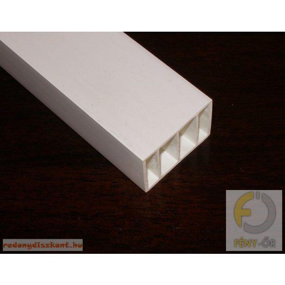 8. Műanyag kiemelő profil ( 35*50 ) - fehér, 80 cm-es darabok