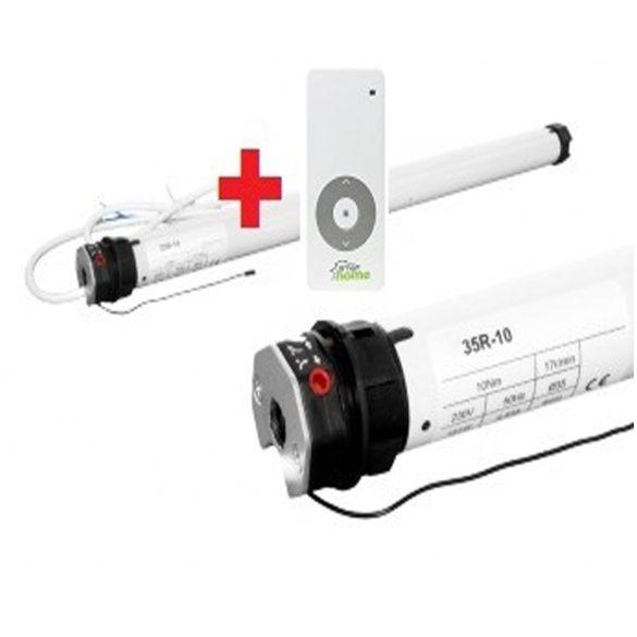 3. SMART35R10 redőnymotor ( rádiós) 10 Nm 40mm-es, távirányítóval