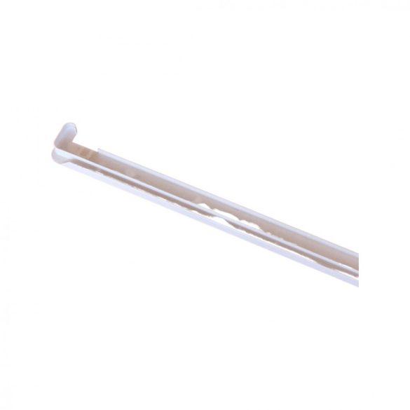 2. Műanyag végzáró profil 500mm (kültéri) vízelvezetővel (2 cm kamrás műanyag párkányhoz)