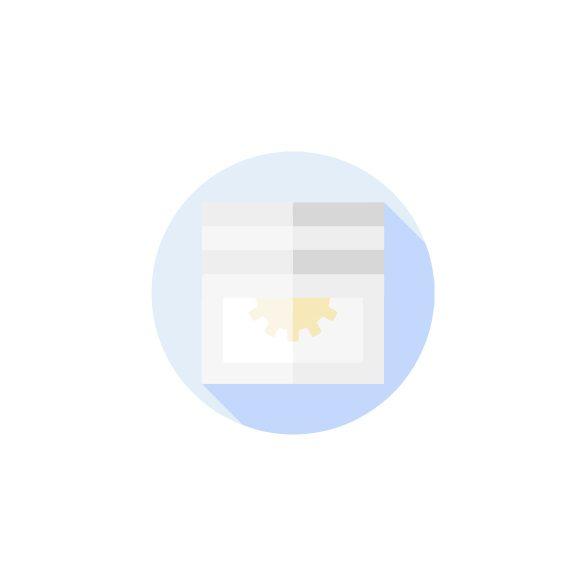 Extudált alumínium lemez párkány, fehér színben, 50 mm széles, 149,5 cm hosszú