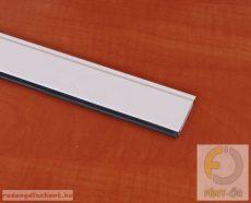 1. Záróléc  műanyag, gumihengerrel - fehér