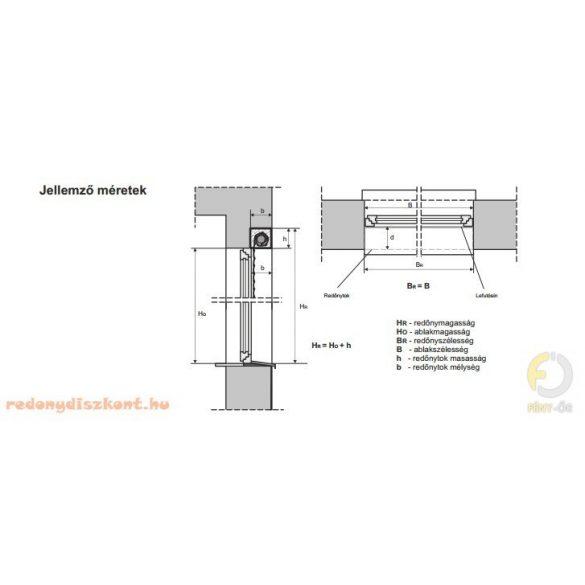 6. ALU MINI KOMBI INTERMO - Vakolható tokos alumínium redőny 39 mm-es léccel - rolós szúnyoghálóval kombinált