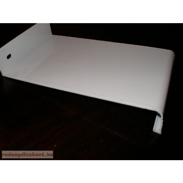 Extudált alumínium lemez párkány, fehér színben, 240 mm széles, 151 cm hosszú