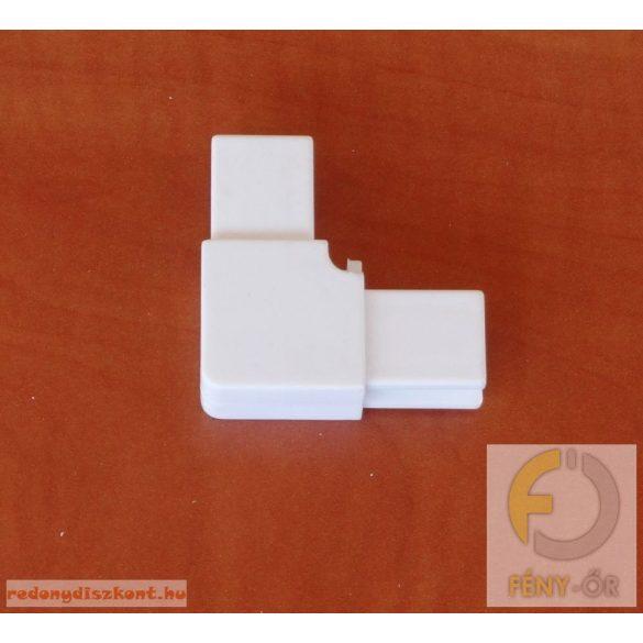 8. Szúnyogháló sarok elem (műanyag kerethez)- fehér