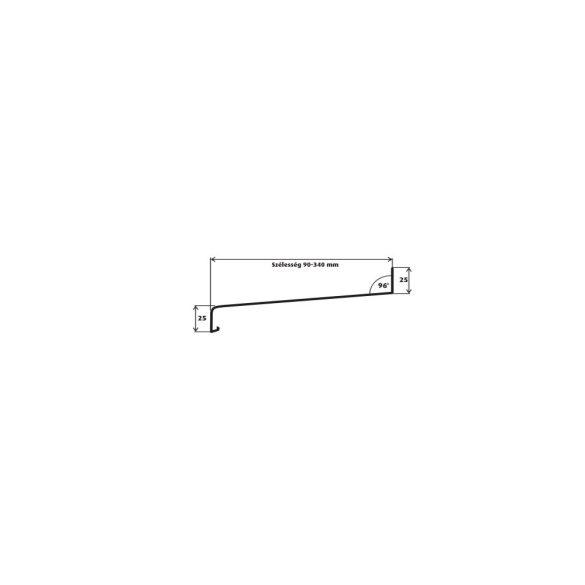 1. Alumínium párkány 090 mm (hajlított)