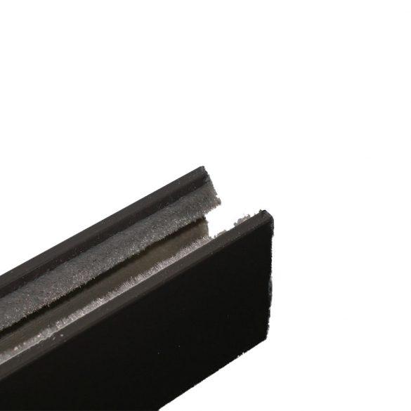 Maxi lefutó, kamra nélküli (alumínium, kefés) barna
