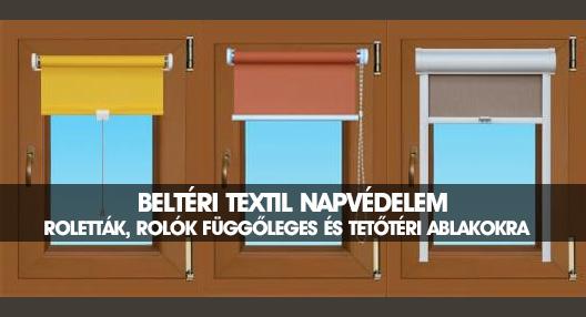 Beltéri textil árnyékolók